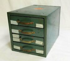 Vintage Wards Master Quality Industrial Small Parts Metal Cabinet #1