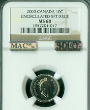 2000 CANADA 10 CENTS NGC MS68 PQ MAC SOLO FINEST REGISTRY SPOTLESS *