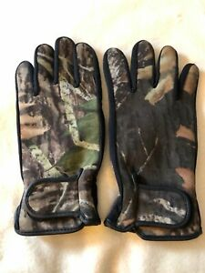 Camo Realtree Gloves Insulated Neoprene Size Large