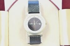 W486-Peugeot  Black Leather Solar Powered Rechargeable Watch
