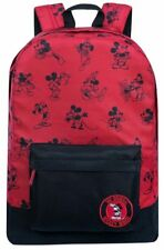 Disney Store Mickey Mouse Backpack Bag Red Steamboat Willie Fantasia NEW