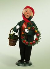 "Byers' Choice Caroler-9"" Boy with Wreaths 2014"