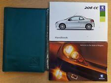 GENUINE PEUGEOT 206 CC OWNERS MANUAL HANDBOOK WALLET 2003-2007 PACK B-510