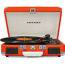 Crosley Cruiser Portable 3-Speed Turntable with Bluetooth - CR8005D-OR (Orange)