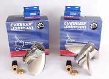 EVINRUDE REBEL Boat Propellers Pair - 3 blade - 15 3/8x18 LX + RX - Hélices