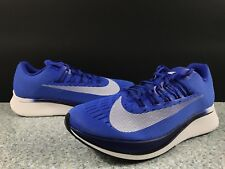 Nike Zoom Fly Mens Running Shoes 12 Hyper Royal White 880848-411 Sz 10.5