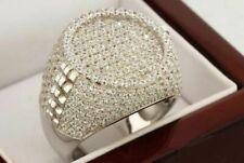 Diamond Engagement Pinky Men's 14K White Gold Finish Round Cut Band Ring 2.00 Ct
