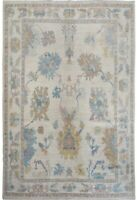 IVORY Oushak Turkish Hand-Knotted Traditional Area Rug Oriental Wool 8x10 Carpet