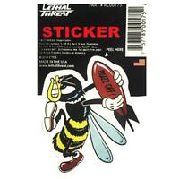 LETHAL THREAT Motorcycle Scooter Bike Decal Helmet Mini Sticker WASP RC00175