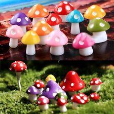 10*Mini Mushroom Miniature Fairy Moss Terrarium Resin Craft Garden Decoration