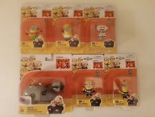 *Sale* Thinkway 5(five) Despicable Me 3 figures(5cm) + 1(one) Gru vehicle set