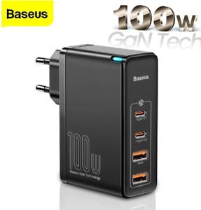 Baseus GaN2 Pro 100W USB PD 4-Port Wall Charger Dual 100W USB-C PD Dual 60W USB-