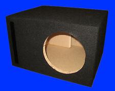 "8"" SINGLE 1.0 Cu.Ft. PORTED 3/4 MDF BLACK SUBWOOFER SUB SPEAKER ENCLOSURE BOX"
