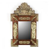 Antique Mirror, Ornate, Continental Repousse, Pine,  1800s, Gorgeous!