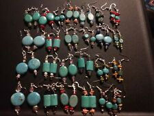 Wholesale lot Of 25 Pairs Of 925 Sterling Silver 💎 Turquoise Gem Earrings