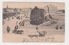 Stockholm,Sweden,Norrbro och Stromparterren,Horse Drawn Wagons,Used,1901