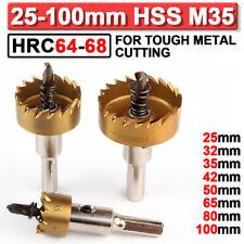 HRC64-68 HSS Scie-cloche Trou Mèche Foret Fraise Perceuse Métal Bois 14-100mm FR