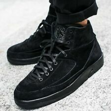 NIB NIKE Mens 10 AIR JORDAN 2 RETRO DECON 897521 010 BLACK BASKETBALL SHOES $160
