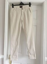 Size 8 Reg Cream River Island Chinos Trousers Worn For An Hour Cost £45 Stretchy