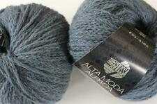 Wolle Kreativ! Lana Grossa - Alta Moda Alpaca - Fb. 60 graublau meliert 50 g