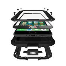 Black Full Body Aluminum Alloy Metal Gorilla Glass Cover Case For iPhone 7 Plus