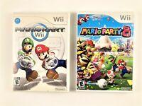Mario Kart (2008) + Mario Party 8 (2007) Nintendo Wii VIDEO GAMES w/Manuals