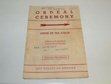 BSA - OA…ORDEAL CEREMONY…1963 PRINTING
