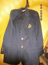 BROOKS BROTHERS woman's CLASSIC navy blazer with crest size S --FALL SALE