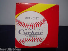 Corker Softball in Original Box MID-CITY OFFICIAL CORKER No. MC100 BALL