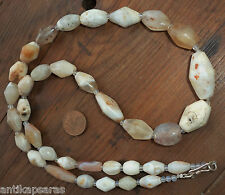 Perle Cornaline Ancien Ancient Antique Banded Agate Carnelian Trade Bead Necklac
