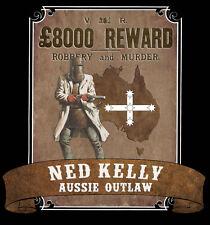 NED KELLY 'AUSSIE OUTLAW' PVC STICKER