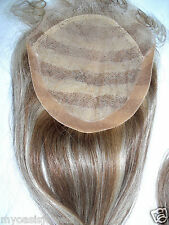 7x7 Full Lace Silk Top Closure Indian Remy Remi Human Hair Partial Wig 18""