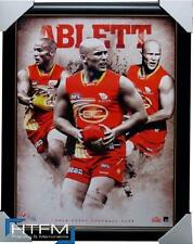 Gary Ablett Unsigned Gold Coat Suns Football Club AFL Official Print Framed