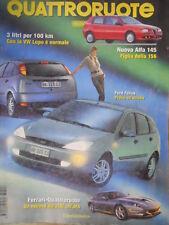 Quattroruote 517 1998 Alfa145 figlia della156.Ferrari-Quattror:record da 300/ora