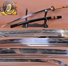 Clay Tempered FoldedSteel Unokubi-Zukuri Blade Japanese Samurai Sword Katana SHA