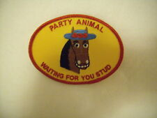 New Women BrownHorse Party Animal Waiting 4U Stud Patch