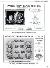 Paden City Glass in the Trade Journals, Catalogs, Etc.