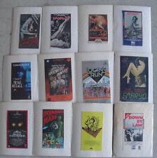 Lot of 12 Vintage Cut Vhs Box Front and Back for Classic Movies