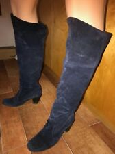 STIVALE vero camoscio blu 38 scarpa donna made in italy