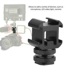 Triple Hot Shoe Base Mount Adapter Holder for Microphone LED Video Light Monitor