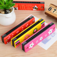 Children Kids 16 Holes Wooden Harmonica Musical Instrument Educational Gifts