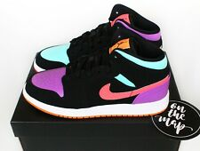 Nike Air Jordan 1 Retro Mid Multi Pink Orange Candy GS Sizes UK 3 4 5 6 7 US New