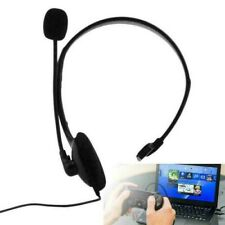 Office Wired Headset Mono-Ear Headphone Tablet Microphone For Phone PC 3.5MM UK