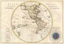 CARTA 1700 MAPPAMONDO AMERICA NORD AMERICA SUD
