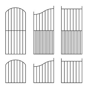 Ready Made Pre Fabricated Fence Gate Steel 25x10mm Frame Panel 12mm Round Bar