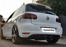 VW Golf 6 R32 Sportauspuff DIffusor Endschalldämpfer Heckansatz Duplex r20 VI R