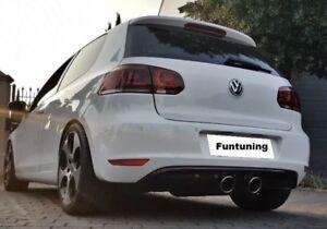 Sportauspuff Heckdiffusor für VW Golf 6 Standard R20 R32 Duplex Auspuff Diffusor