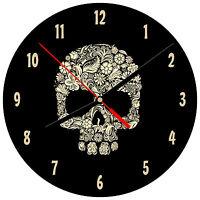 """8"""" WALL CLOCK Sugar Skull #1 Dia de los Muertos Day of the Dead Halloween"""