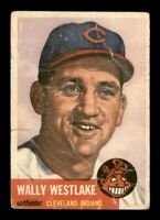 1953 Topps Set Break # 192 Wally Westlake LOW GRADE *OBGcards*
