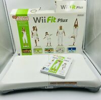 Wii Fit Plus Game With Balance Board Nintendo Wii - Tested - Works-COMPLETE